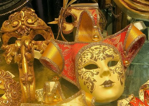 The Venetian masks displayed in shops can be quite beautiful and elaborate.
