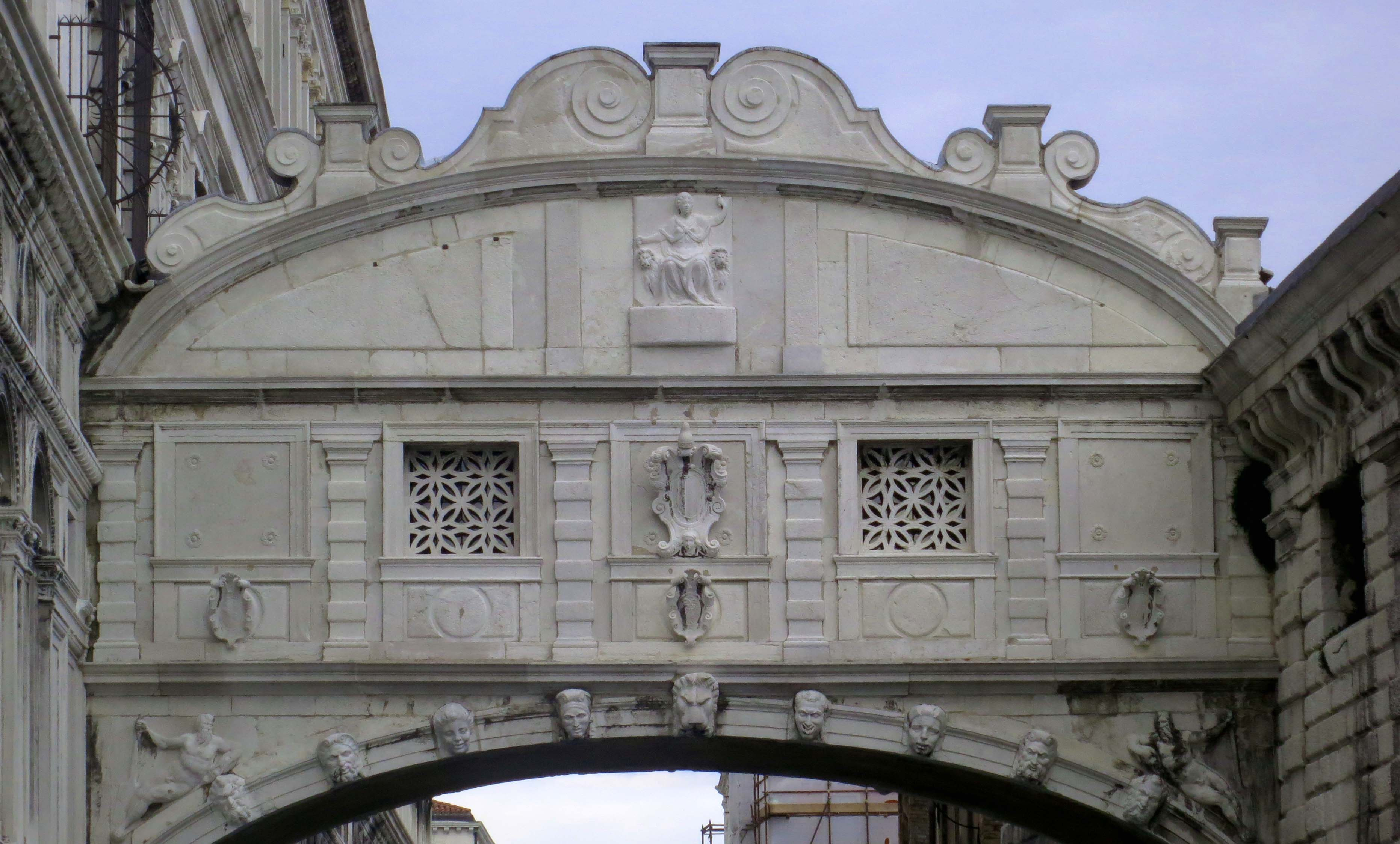 The Bridge of Sighs was so named because prisoners, condemned in the Doge's Palace, could have their last look at freedom as they crossed the bridge from the Palace to the prison. Everybody who is anybody and has visited Venice has stopped for this view.