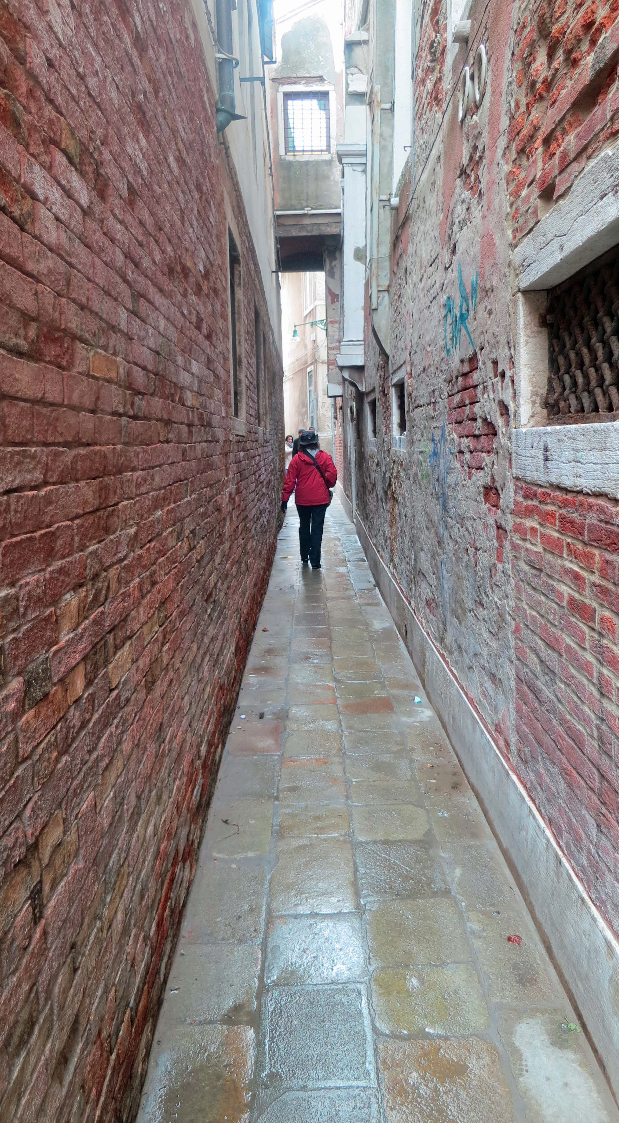 This photo provides a good example of our wandering off the main tourist routes of Venice.