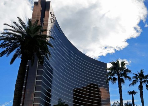 A stroll down Las Vegas Boulevard during the day also brings impressive sights, such as this one of the Wynn Hotel and casino.