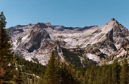 The beauty of the Sierra Nevada Mountains can be found in its towering granite peaks...