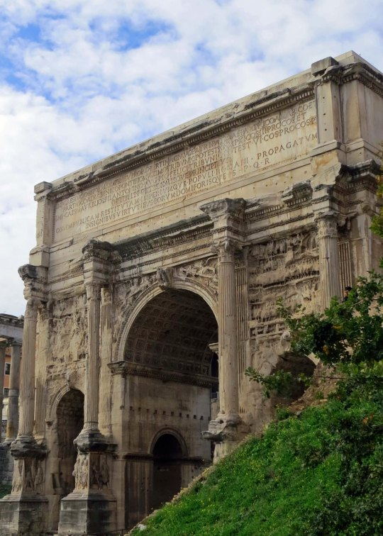 This impressive six-story arch commemorated the victory of the African born emperor Septimius Severus in far off Mesopotamia.