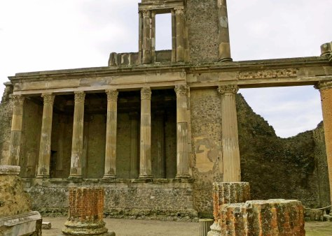 The Basilica in Pompeii was the center of government. It is centrally located next to the market and Jupiter's Temple.