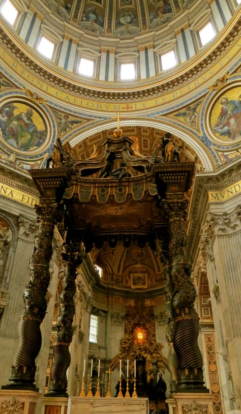 Bernini's bronze canopy in St. Peter's Basilica