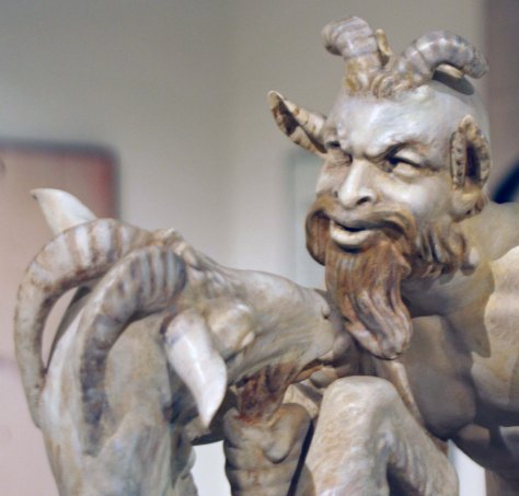 Satyr and goat have a tete-a-tete plus in this infamous sculpture found at the Archeological Museum of Naples.