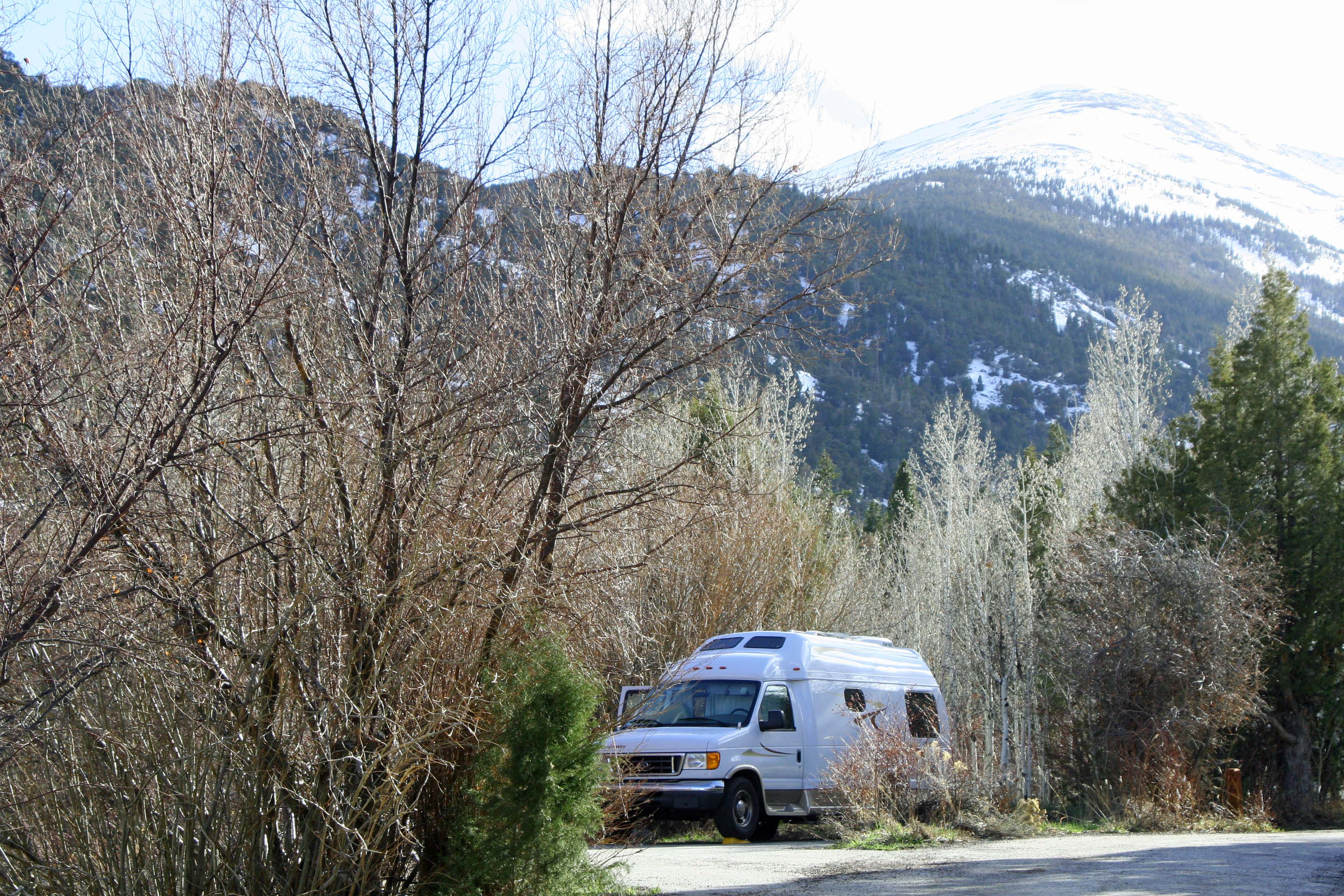 Lesser known National Parks such as Great Basin in Nevada also hold great charm and beauty. This photo features the van Peggy  and I travelled in for four years as we travelled around North America.