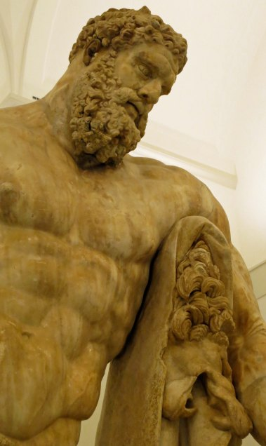 Hercules shows off the pelt of the Nemean Lion he was required to kill as the first of his 12 Labors.