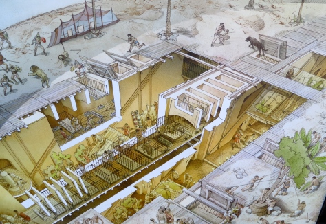 This illustration from the Colosseum exhibit shows a cutaway of the floor.