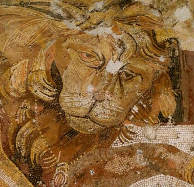 Mosaic lion from Archeological Museum of Naples.