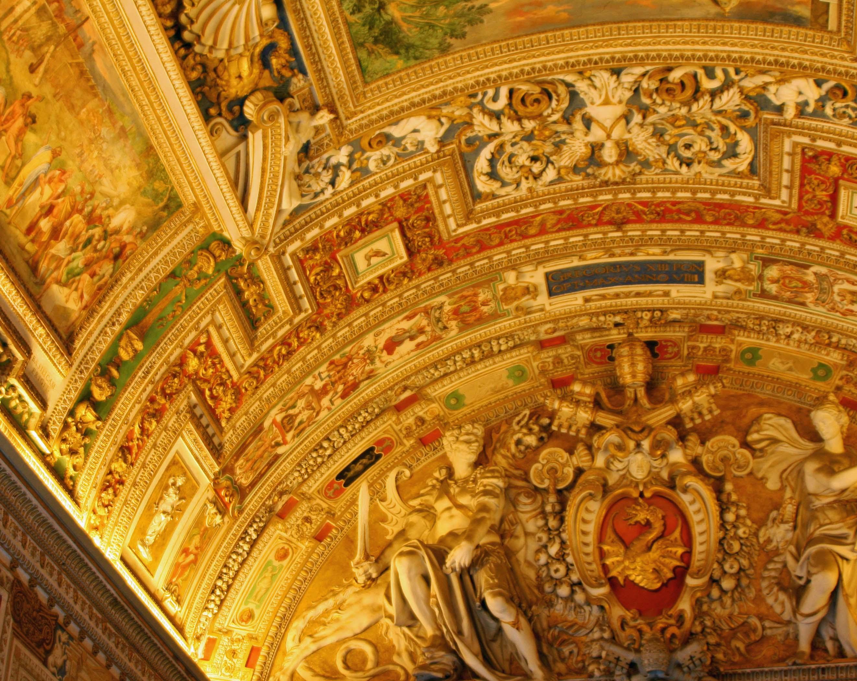 Ceiling of Map Room in Vatican Museum