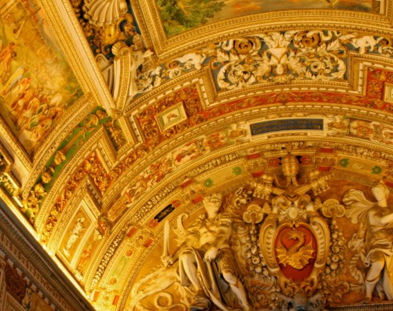 Ceiling of Map Room in Vatican Museum
