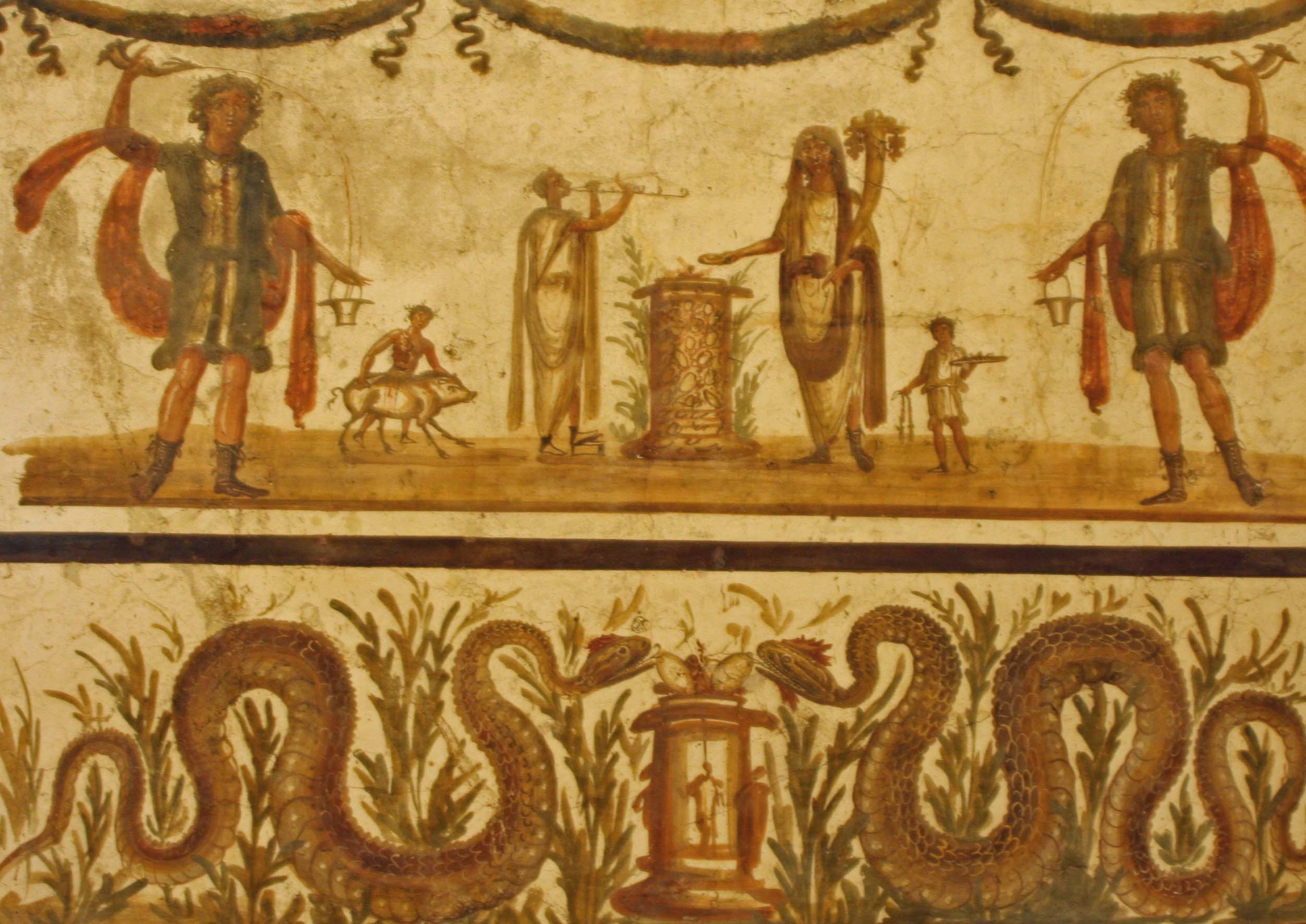The glory of the ancient world pompeii and the for Ancient greek mural
