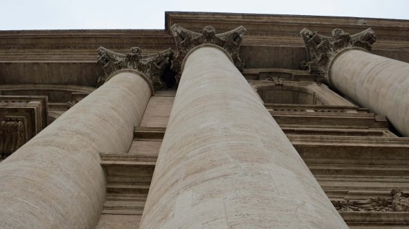 I conclude this blog with this shot I took of the massive columns on the front of St. Peter's Basilica. I felt it provided an interesting perspective on the size of the church.