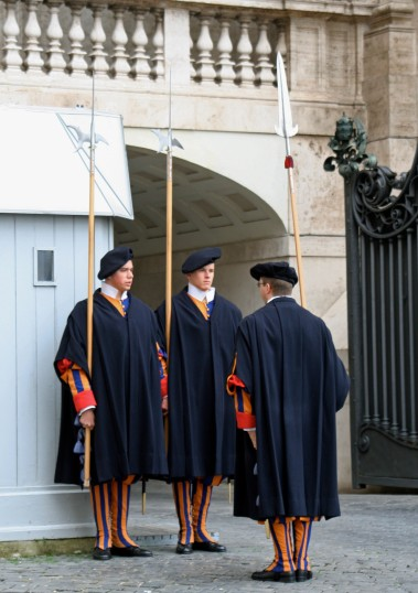 No blog on the Vatican would be complete without showing the changing of the Swiss Guard, the Pope's mercenaries.