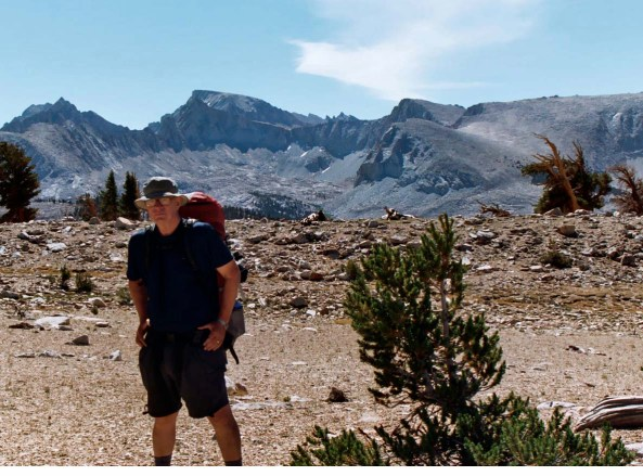 The Sierra Nevada Mountains of California have always reminded me how precious our wilderness areas are. To celebrate my 60th birthday, I backpacked 360 miles from Lake Tahoe to Mt. Whitney, the hunch baked mountain behind me.