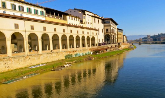 For my final picture today, I selected this view looking down the Arno River from the Pont Vecchio.