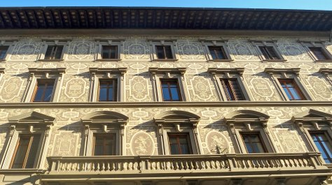 Balcony and outside walls in Florence.