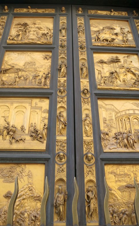 Ghiberti's Baptistery doors in Florence Italy