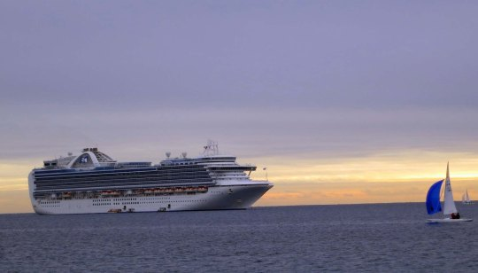 Crown Princess in Cannes Harbor