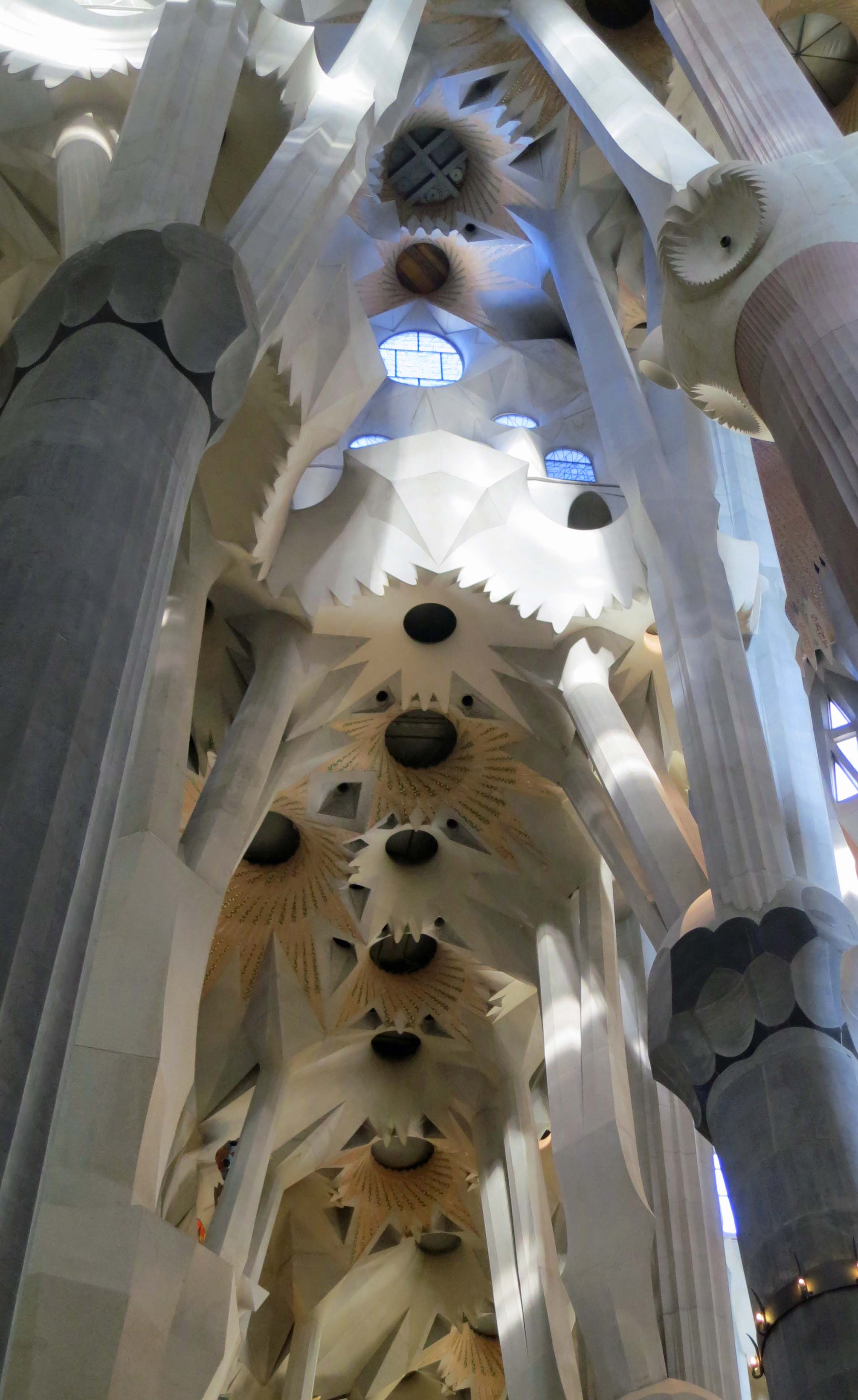 Celing of Sagrada Familia in Barcelona.