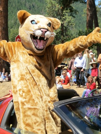A ferocious cougar (mascot for Ruch Elementary School)...