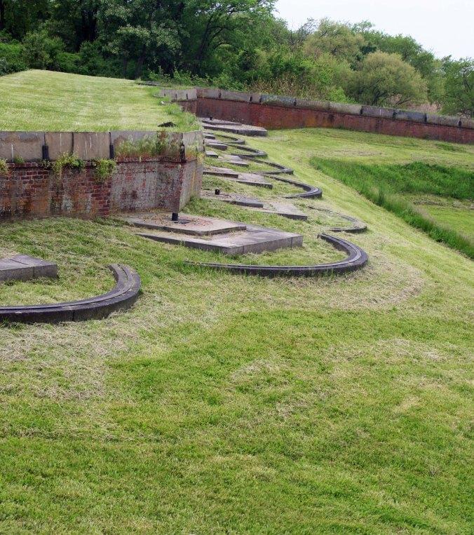 Gun emplacements at Ft. Mifflin.