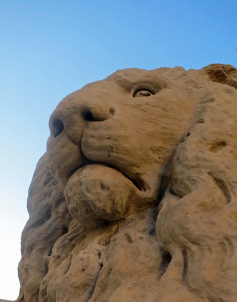 Lion statue in Florence, Italy