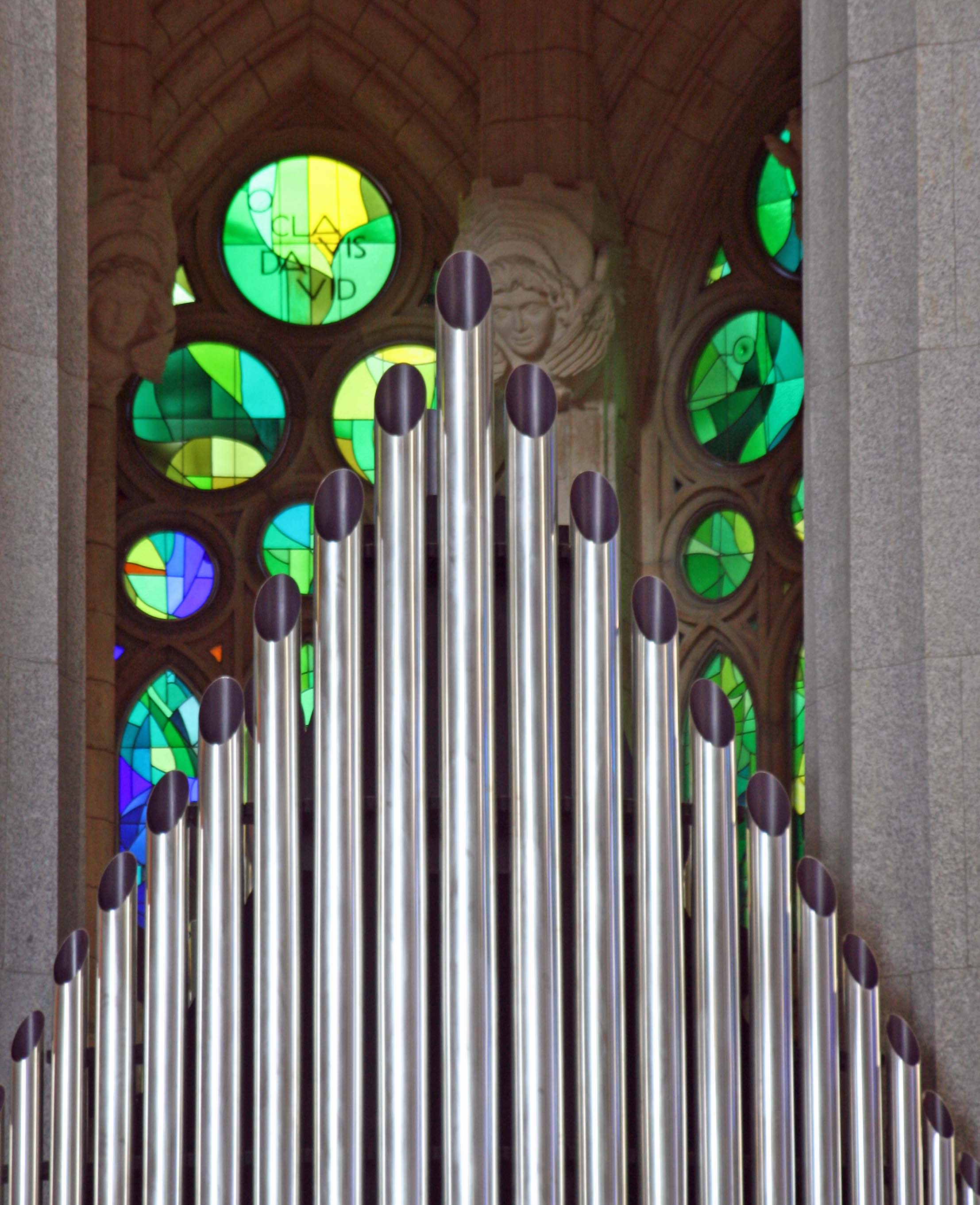 Organ pipes in Sagrada Familia