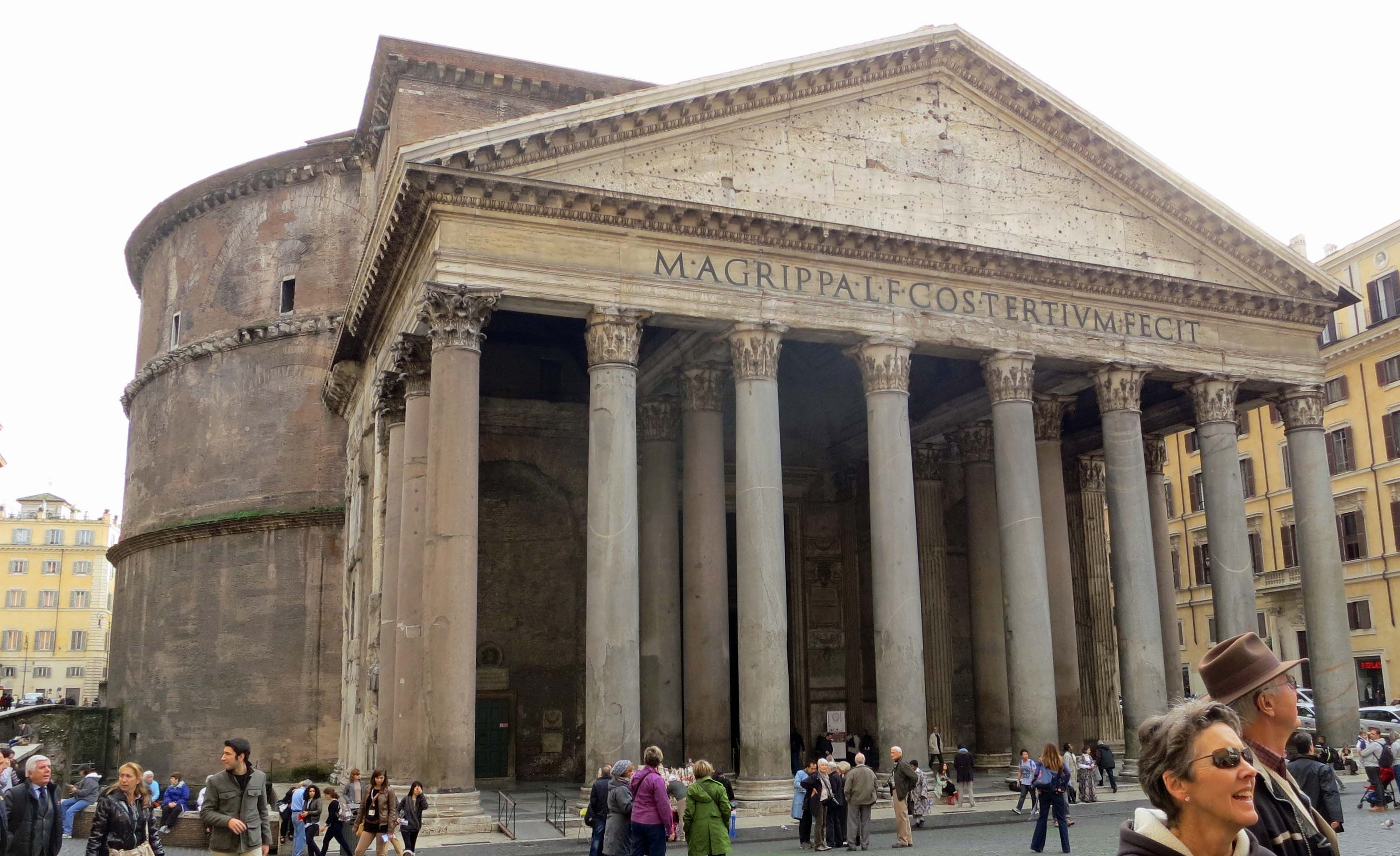 The Pantheon, built to honor all of Rome's gods, there were a lot, is one of the world's most famous structures. It's dome served as a model for domes ranging from St. Peter's Basilica to the US Capitol building.