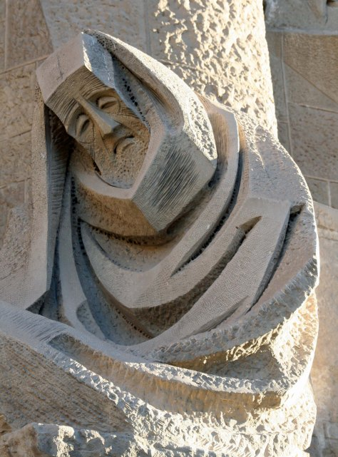 Subirachs ' Passion sculpture on Sagrada Familia in Barcelona