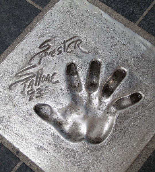 I took this photo of Sly Stone's hand print. Can you sense the testosterone?