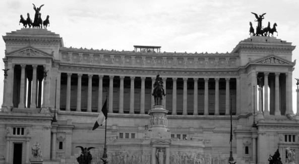 Victor Emmanuel Monument in Rome Italy