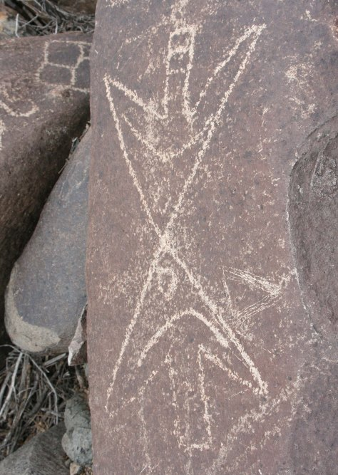 Arrow petroglyphs at Three Rivers Petroglyph site.