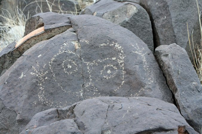 Petroglyph at Three Rivers Petroglyph site in Southern New Mexico