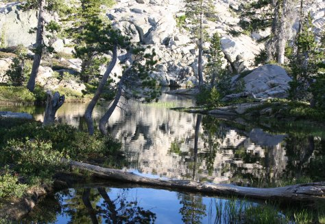 Five Lakes Basin north of I-5 between Sacramento and Reno in Northern Sierra's.