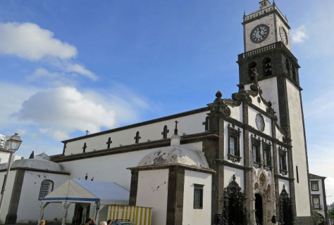 A church in Ponta Delgado in the Azores