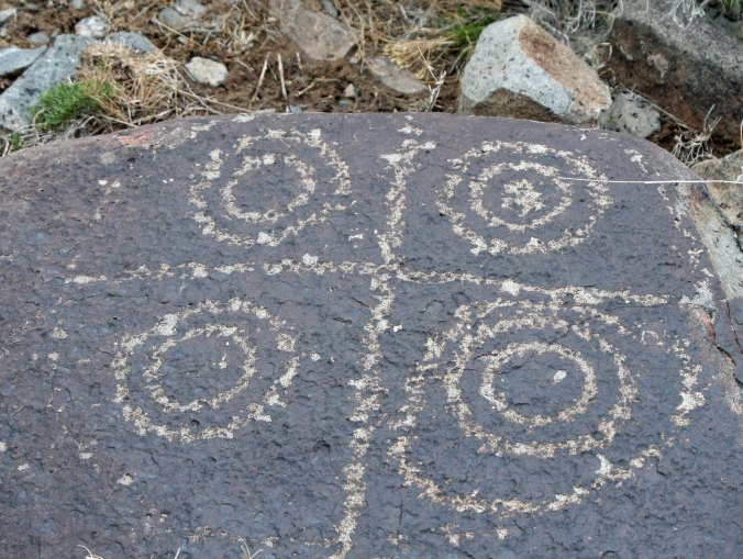 Petroglyph found at Three Rivers petroglyph site in southern New Mexico.