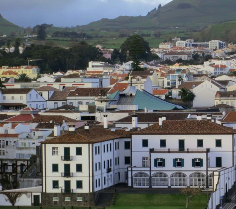 The town of Punta Delgado on the Island of San Miguel in the Azores