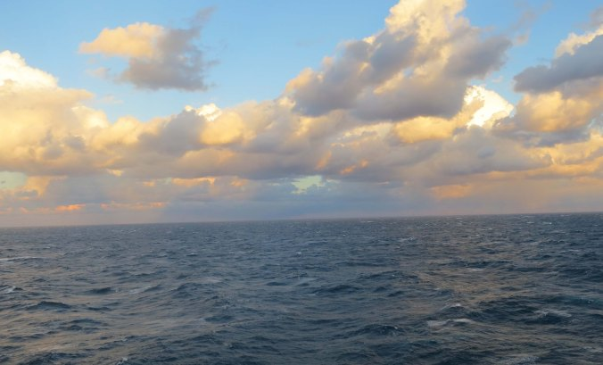 These clouds over the Atlantic appeared less threatening but brought a storm.