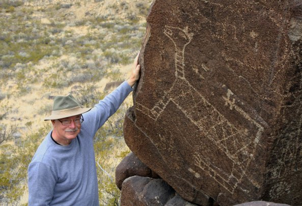 Mountain lion petroglyph at Three Rivers Petroglyph site in southern New Mexico.