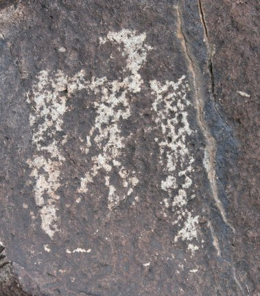 Another version of a Thunderbird found at Three Rivers Petroglyph site.