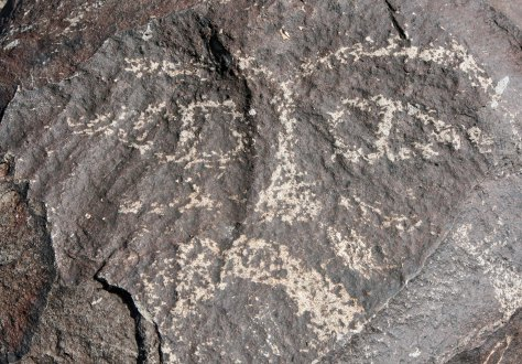 Petroglyph at Three Rivers Petroglyph site in southern New Mexico.