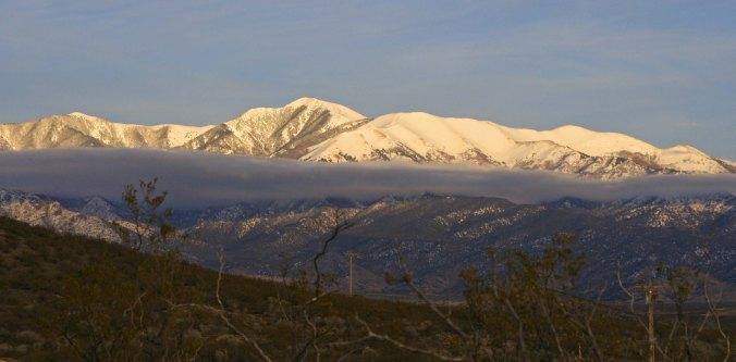 Evening clouds over the Sacramento Mountains of New Mexico.