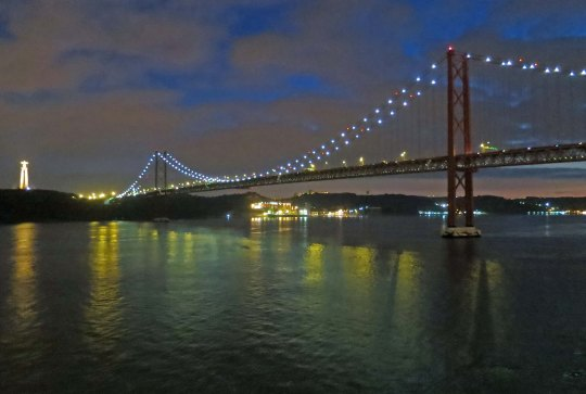April 25 Bridge in Lisbon at night