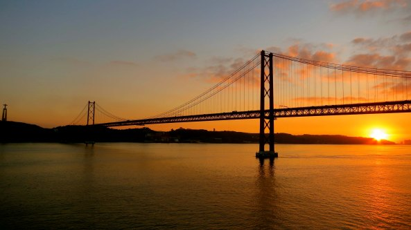 25 Abril Bridge in Lisbon