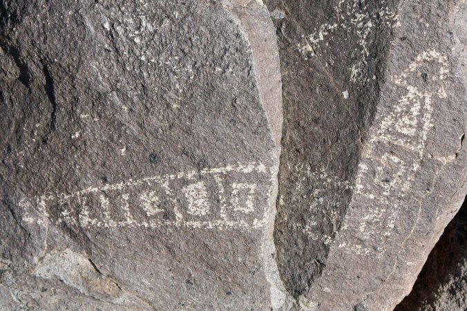 Rattlesnake petroglyph at Three Rivers Petroglyph Site in southern New Mexico.