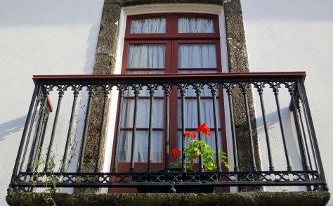 Ponta Delgado balcony in Azores