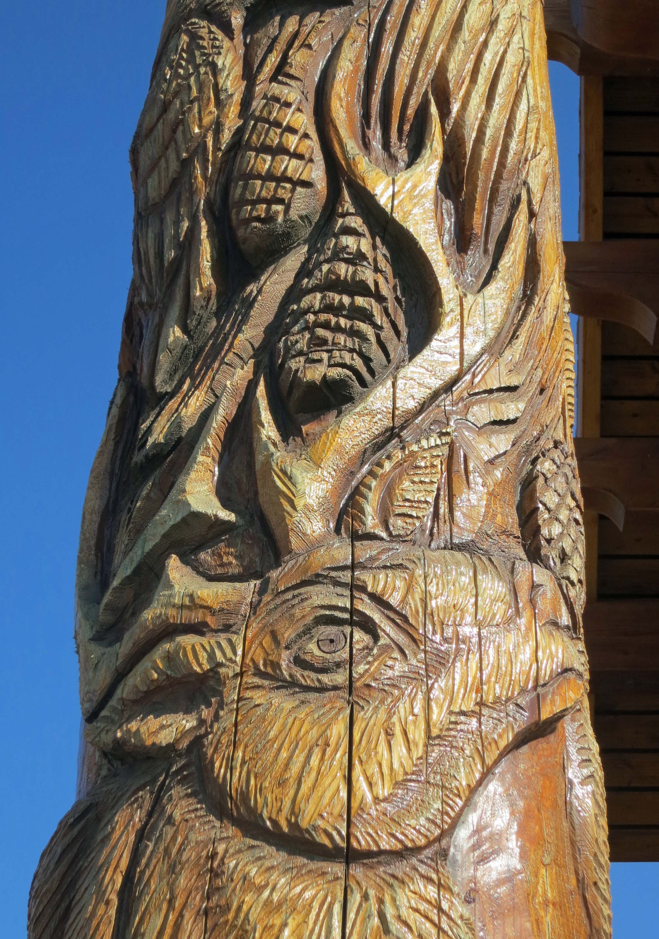 The delicate art of chainsaw wood carving part … north