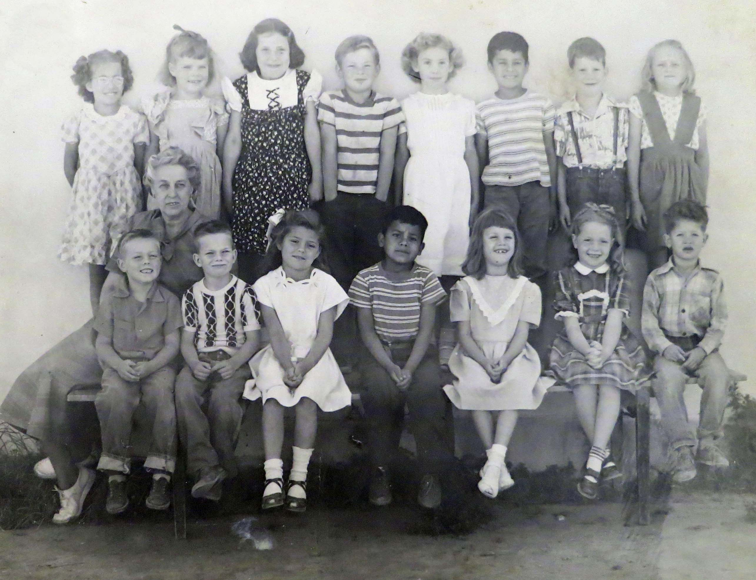 First Grade class at Diamond Springs Grade School in 1949.