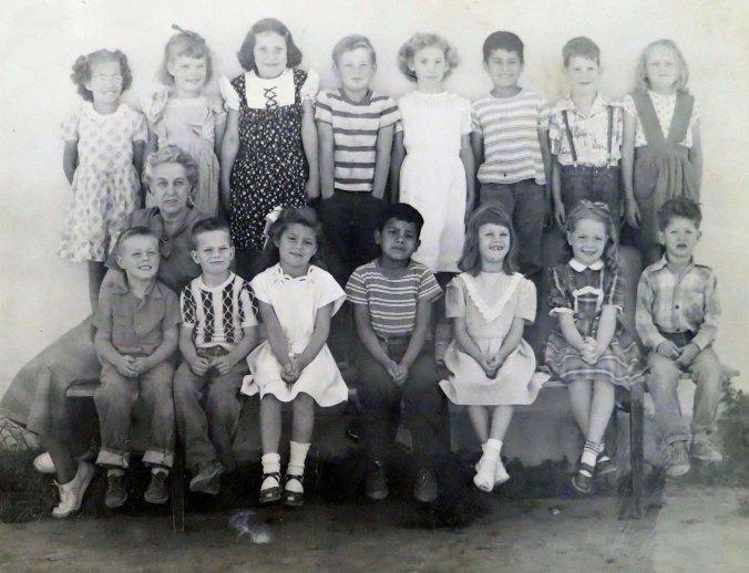 First Grade class at Diamond Springs Grade School in 1949.